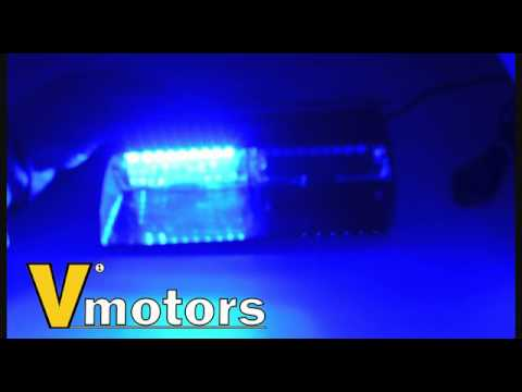Red+Blue Auxbeam LED Law Enforcement Emergency Hazard Warning Strobe Lights for Interior Roof//Dash//Windshield with Suction Cups