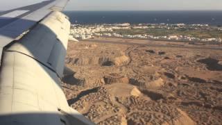 Посадка самолета в Шарм эль Шейхе при сильном боковом ветре Октябрь 2014 г.2015
