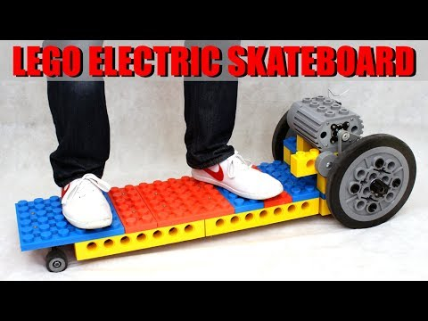 LEGO Electric Skateboard made from GIANT 3D Printed Bricks #2 | XRobots