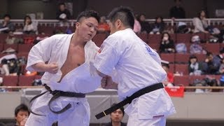 The 19th All Kanto Karate Tournament Open Weight Division Quarterfi...