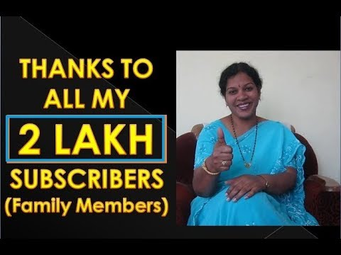 Thanks to all my 2 Lakh Family Members (Subscribers)