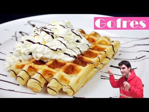 Gofres caseros. La receta más fácil de waffles.