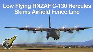 RNZAF C-130 Hercules Very Low Pass