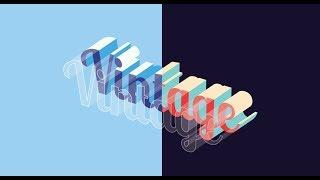 Block Text Effect Illustrator Tutorial  Graphic design