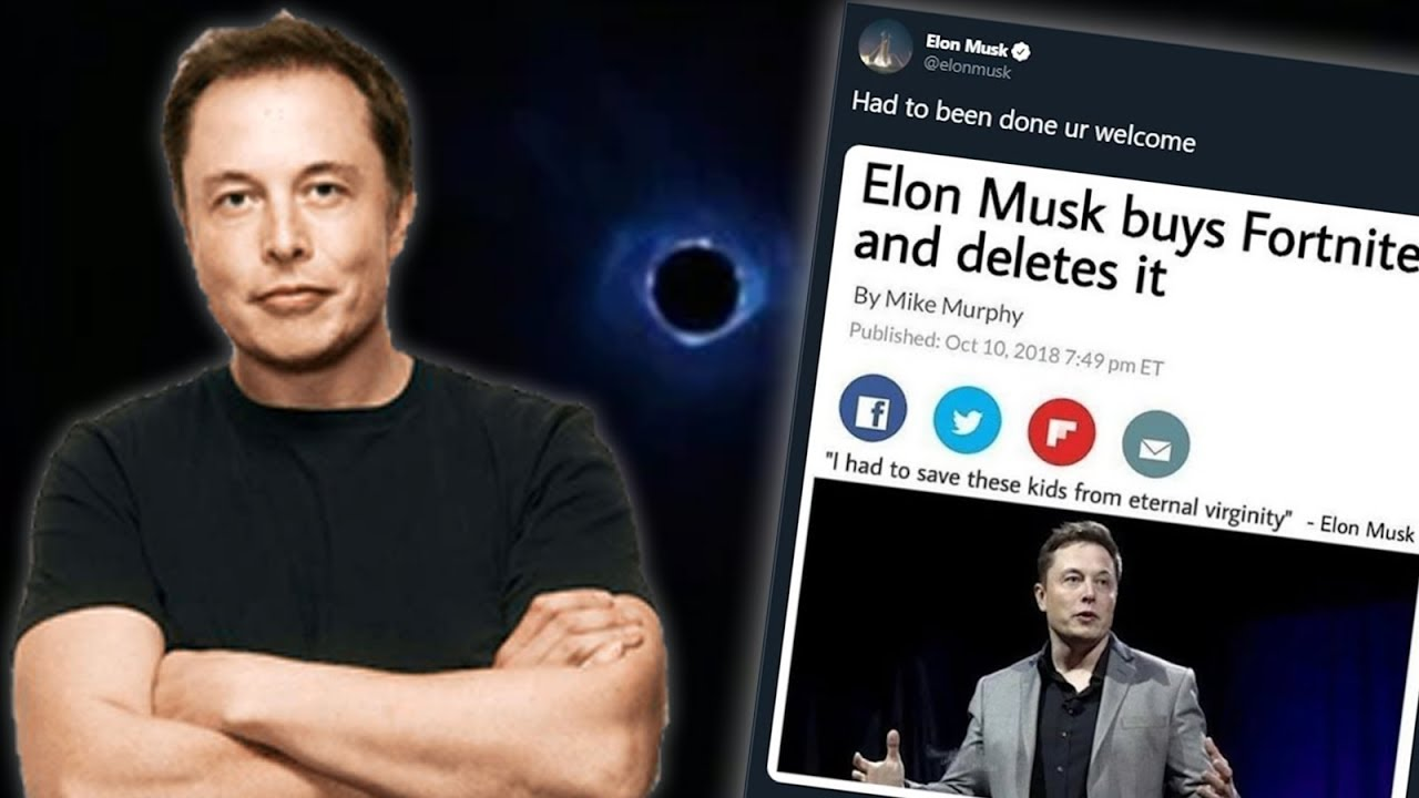 Elon Musk Buys Fortnite & Deletes It! [Best Fortnite Black ...