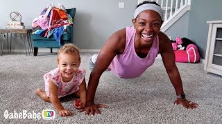 WORKING OUT WITH MOM