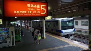 E531系東北本線試運転 新白河駅 2017年8月14日