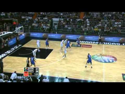 Argentina Vs. Dominican Republic / 2011 FIBA Americas Championship Round 2