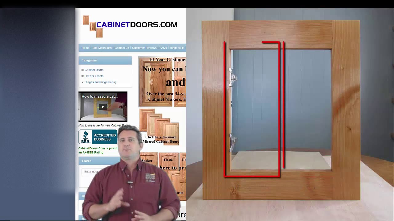 How To Measure Cabinet Openings For Replacement Cabinet Doors Youtube