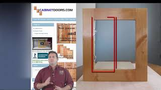 How to measure cabinet openings for replacement cabinet doors