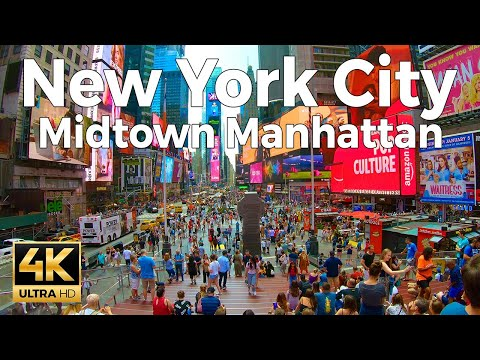 New York City Walking Tour - Midtown Manhattan (4k Ultra HD 60fps)