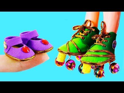 DIY Barbie Ideas ~  Miniature Shoes , Roller skates