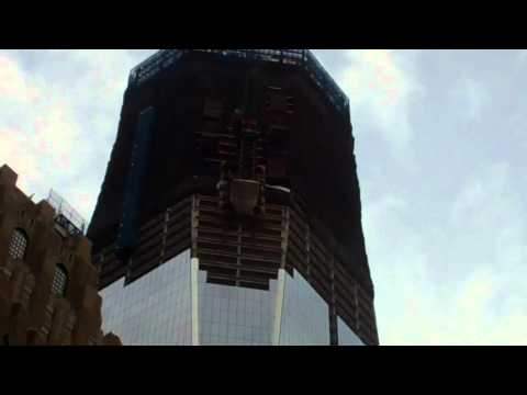 The Freedom Tower being built  10/1/11