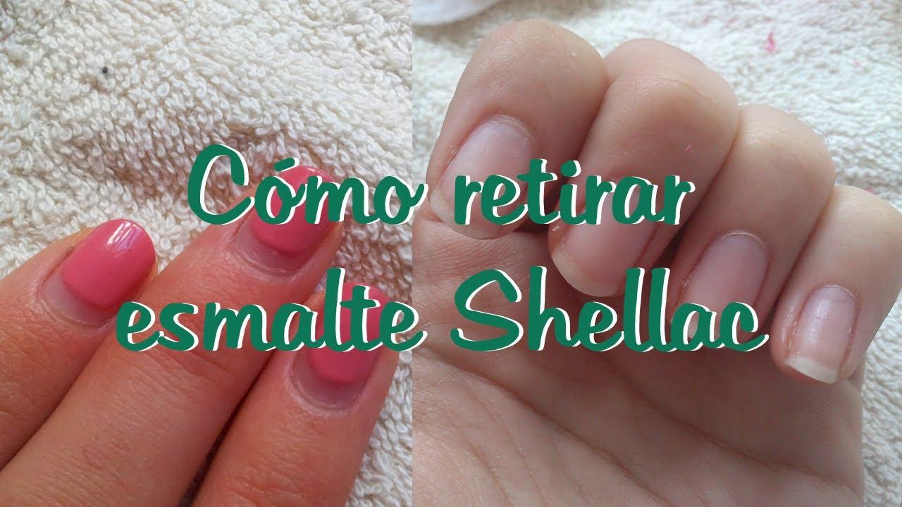CÓMO RETIRAR ESMALTE SHELLAC (MANICURA SEMI-PERMANENTE) - YouTube