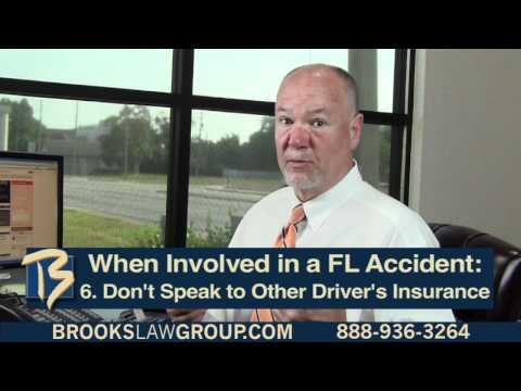 8 Things to Do in a FL Accident Part 2 - Florida Personal Injury Attorney Steve Brooks Discusses