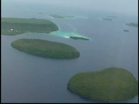 Vavau islands from the air