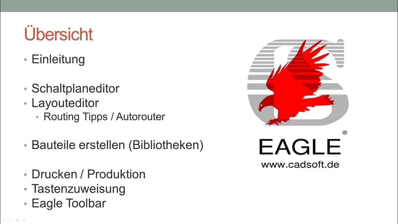 CadSoft EAGLE Tutorial - Zusammenfassung [Deutsch/German] - YouTube