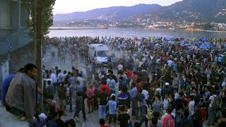 Situation out of control as immigrants riot in Lesbos, Greece
