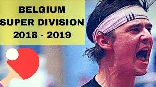 PIERAERT Valentin - MERCHEZ Cédric SUPER DIVISION 2018 2019 TABLE TENNIS