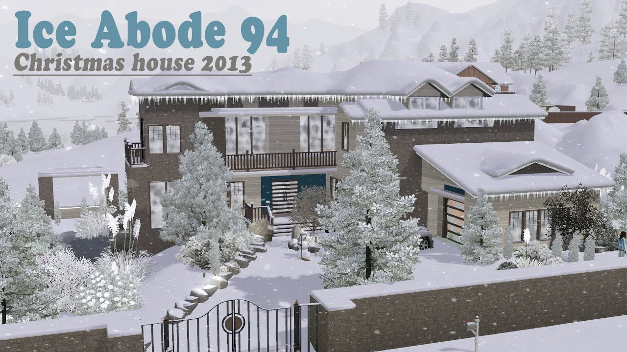 The Sims 3 House Building - Ice Abode 94 | Christmas house - YouTube