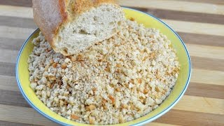 How to Make Homemade Breadcrumbs - Easy Coarse Breadcrumbs Recipe