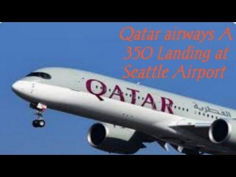 Landing at Seattle Airport USA