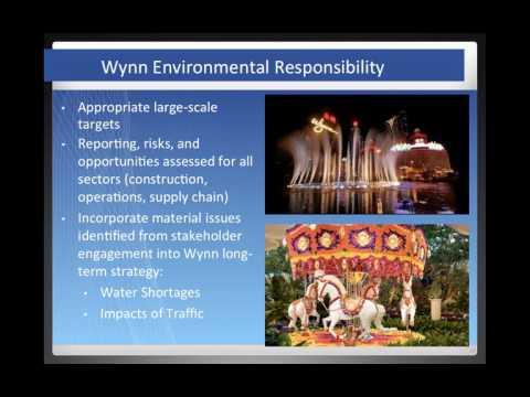 Wynn Resorts, LLC: Incorporating Sustainability into Corporate Strategy