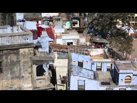 Stock Footage - Houses on the Banks of River Ganges | VideoHive