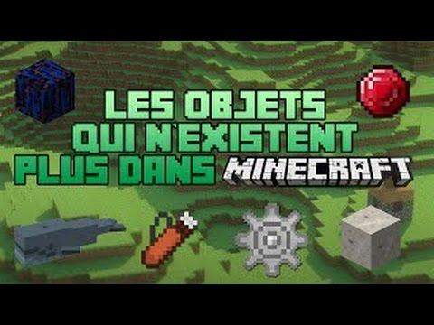 Les objets qui n 39 existent plus minecraft youtube - Objet les plus rechercher ...