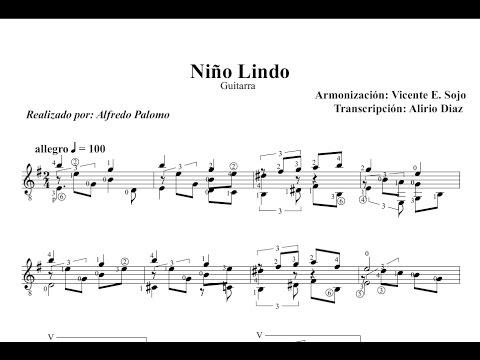 Partitura ni o lindo arreglo v e sojo guitarra cl sica for Partituras guitarra clasica
