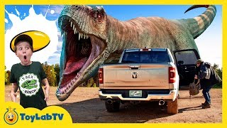 Park Ranger Aaron is trapped in his truck by a giant life size T-Re...