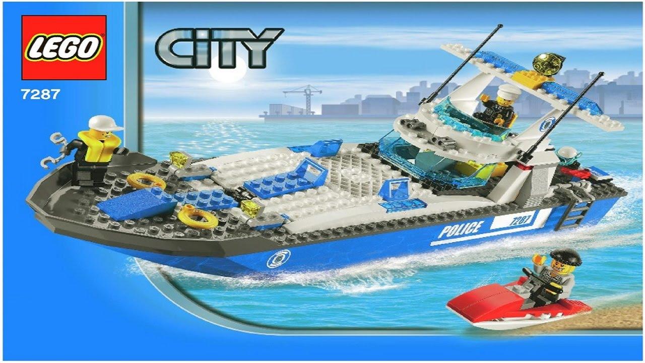 Lego 7287 Police Boat City Police Instruction Booklet Youtube