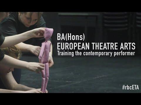 European Theatre Arts (Training The Contemporary Performer) BA (Hons)