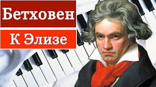 К ЭЛИЗЕ НА ПИАНИНО как сыграть УРОК Бетховен на фортепиано самая красивая мелодия классика музыка