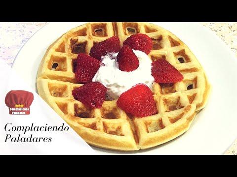 COMO HACER WAFFLES BELGAS ESPONJOSOS / Belgian Waffles - Complaciendo Paladares -Claudia
