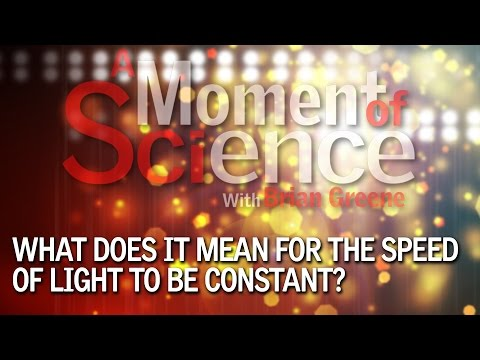 What does it mean for the speed of light to be constant?