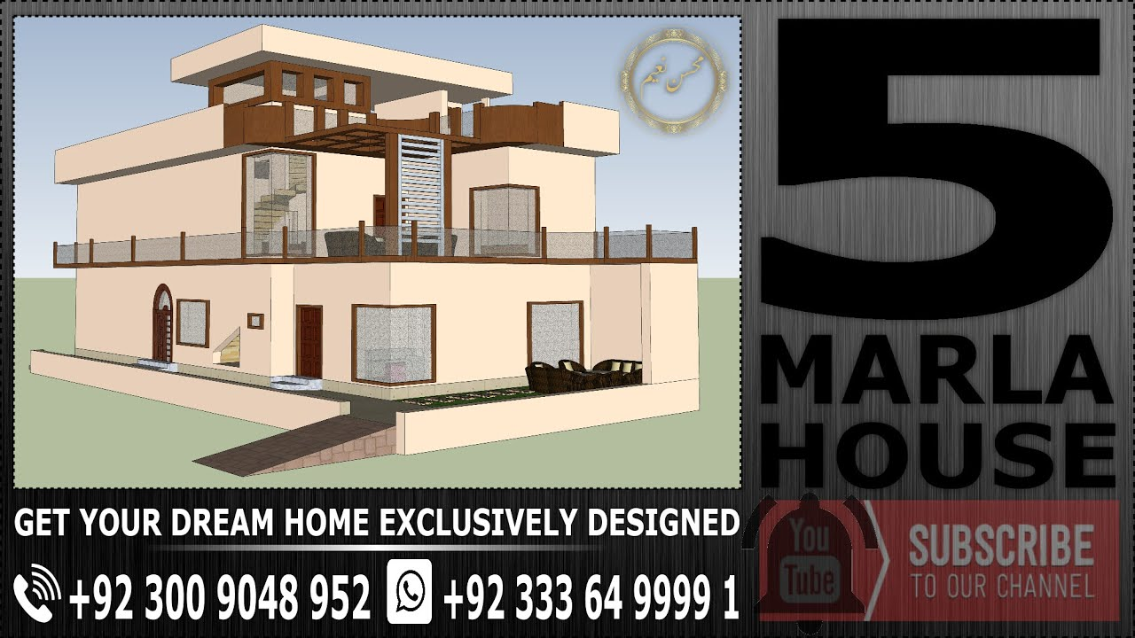 5 marla house plan 3d model floor plan beautiful for Create house design 3d