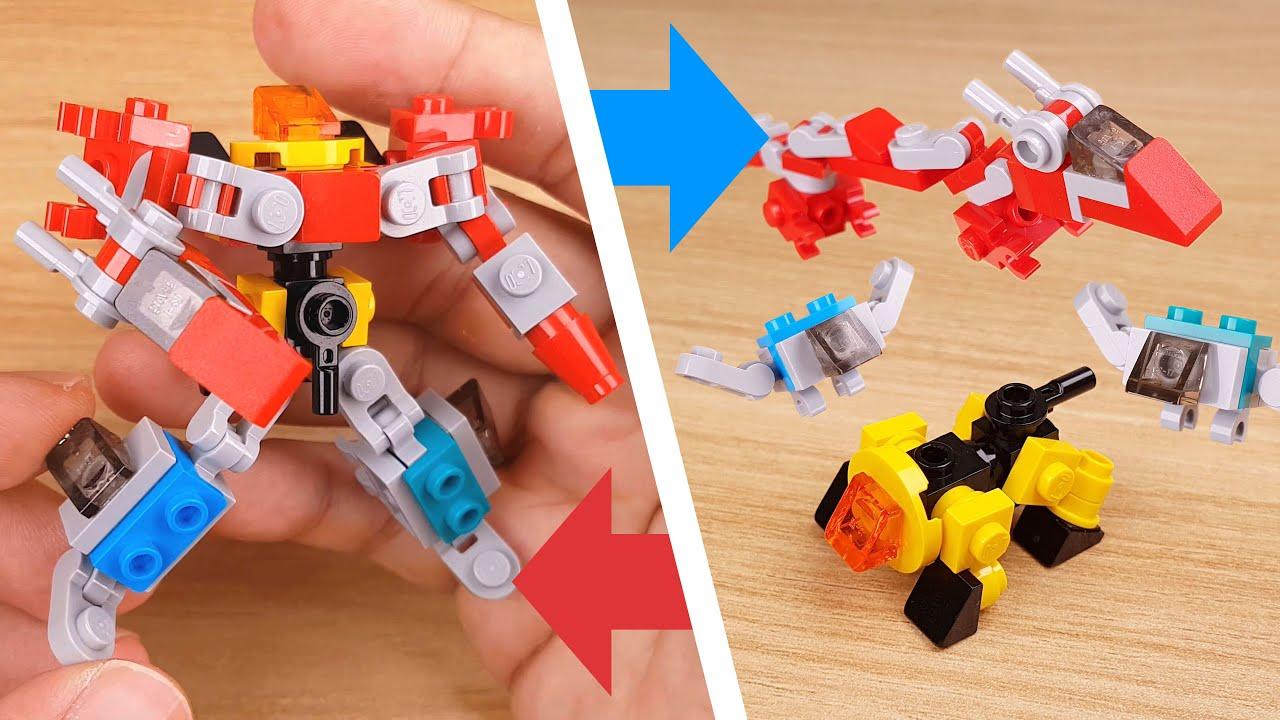How to build LEGO brick mini animals combiner mech - Wild DLB2