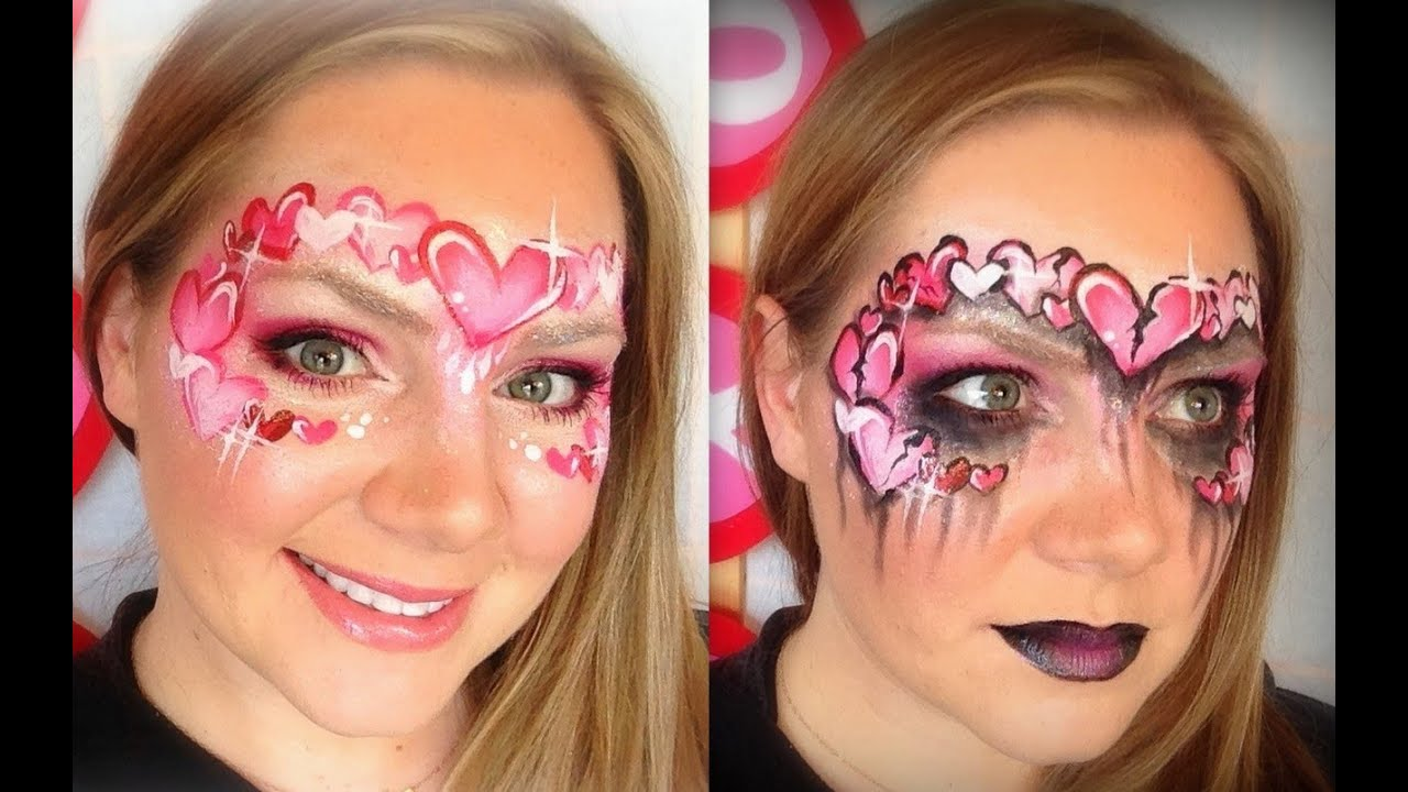 Cute Sugar Skull Wallpaper He Loves Me He Loves Me Not Face Painting And Makeup