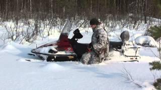 Ямаха Викинг 540 - 4 по глубокому снегу