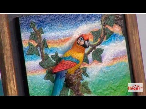 Como hacer la tecnica de muralismo naturalista - Hogar Tv  por Juan Gonzalo Angel