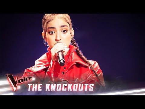 The Knockouts: Lara Dabbagh Sings 'Umbrella'   The Voice Australia 2019