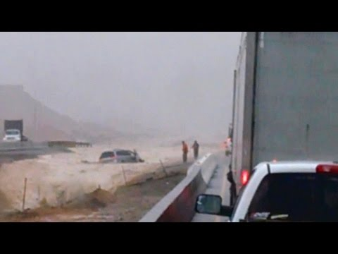 Strangers help save couple caught in torrent of mud after Nevada flash floods