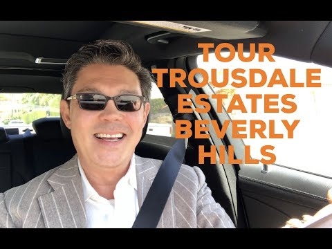 Christophe Choo tour the Trousdale Estates area of the city of Beverly Hills, California 90210