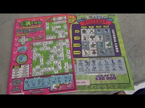 Winning At Loteria Plus Playing Extra Crosswords Lottery Scratcher Tickets