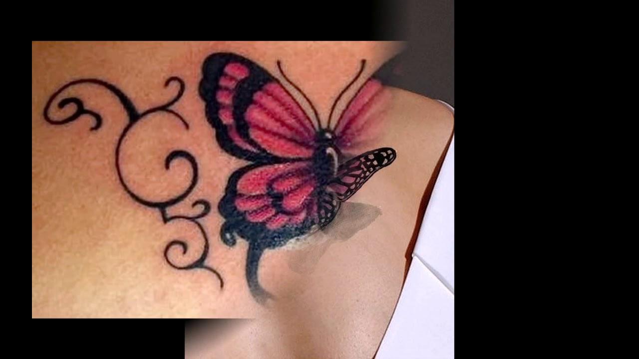 Значение тату бабочка - интересные рисунки готовых тату на ...
