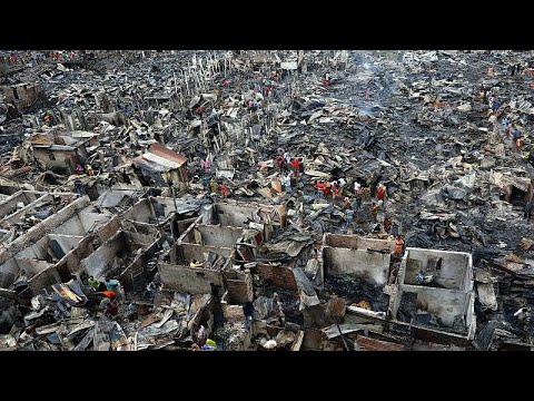 شاهد: الآلاف بدون مأوى في بنغلادش اثر حريق شب في حي عشوائي بداكا …  - نشر قبل 5 ساعة