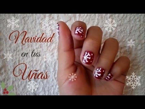 ¡3 Diseños de Uñas para Navidad! (Súper Fácil) , Blooudland ) , YouTube