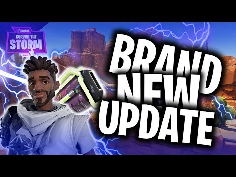 FORTNITE SAVE THE WORLD - BRAND NEW UPDATE!! INTO THE STORM!!! NEON WEAPONS & CHARACTERS!!