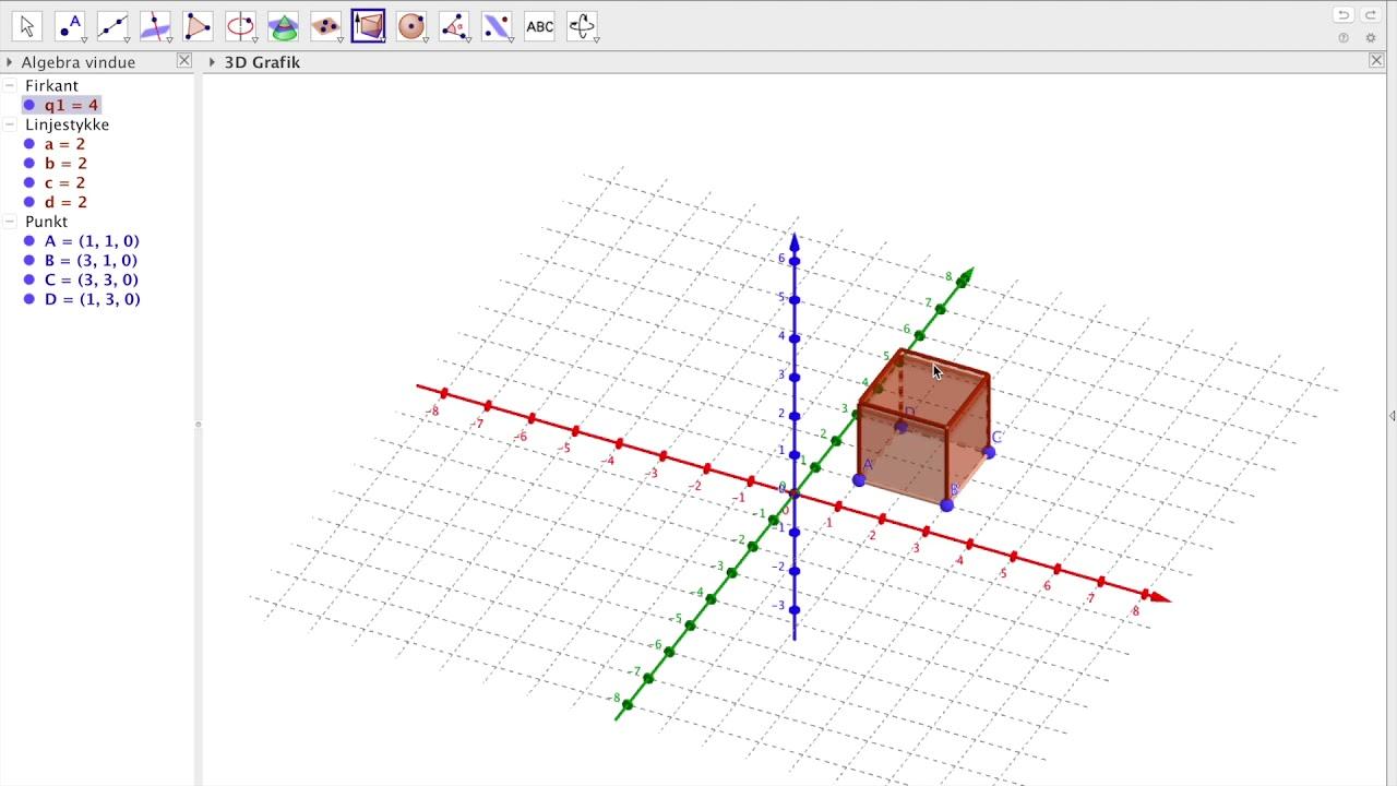 Tutorial | 3D hundehus i Geogebra